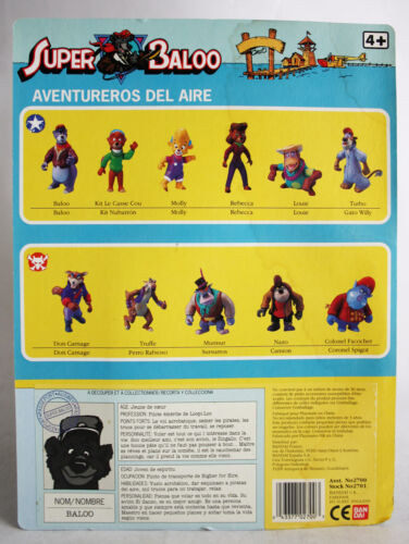 5 X RARE TALE SPIN FIGURES 1991 SUPER BALOO DON MOLLY KIT REBECCA NEW SEALED !
