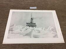 1899 Antico architetti Print-Ice Breaker in azione, stampa della Marina,