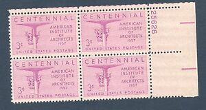 1089-Architects-US-Plate-Block-Mint-nh-Free-shipping-offer
