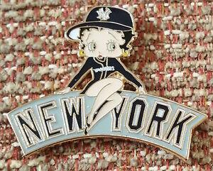BETTY BOOP w// Baseball Bat Metal Hat Lapel Pin