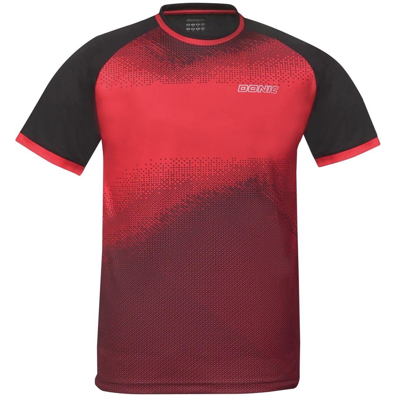 Donic Camiseta Agile red Transpirable Camiseta Bádminton Tenis de Mesa Camiseta
