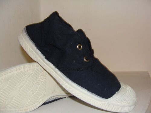 Bensimon Tennis Shoes Navy Lace-Up Canvas