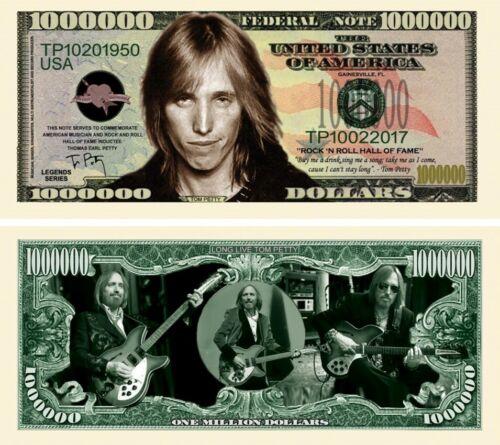 Tom Petty Million Dollar Bill Fake Play Funny Money Novelty Note FREE SLEEVE