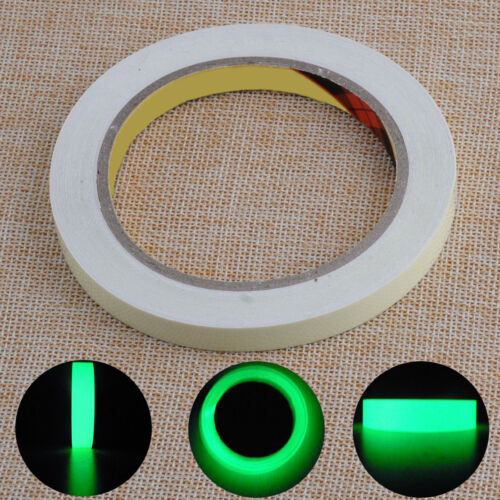 10M 10mm Luminous Tape Glow in the Dark Self-adhesive Safety Stage Sticker Decor