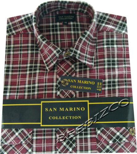 Mens Flannel Lumberjack Check Brushed Cotton Work Shirt M XXL