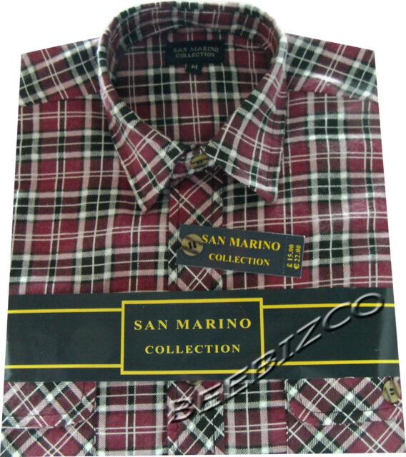 Mens Flannel Lumberjack Check Brushed Cotton Work Shirt M - XXL