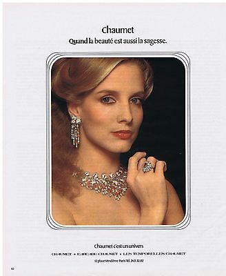 Publicite Advertising 054 1978 Chaumet Quand La Beauté Est Aussi La Sagesse Modern And Elegant In Fashion Collectibles