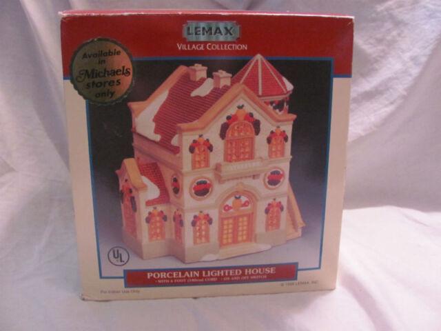 1998 lemax christmas village porcelain lighted fruit house michaels exclusive - Christmas Village Sets Michaels