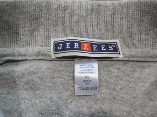 JERZEES Zippo Grey Polo Shirt Brand New Large or Extra Large