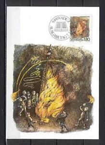 Maxi Card B32 Liechtenstein 1983 Folk Funkensonntag