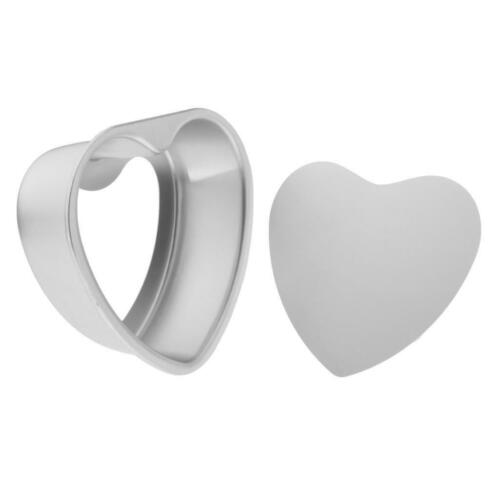 Non-Stick Anodised Heart-Shaped Cake Tin with Removable Bottom for Baking 6-8/'/'