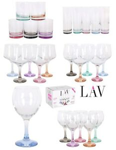 LAV-PASTEL-BASE-Wine-cocktail-beer-Highball-Tumblers-drinking-glasses