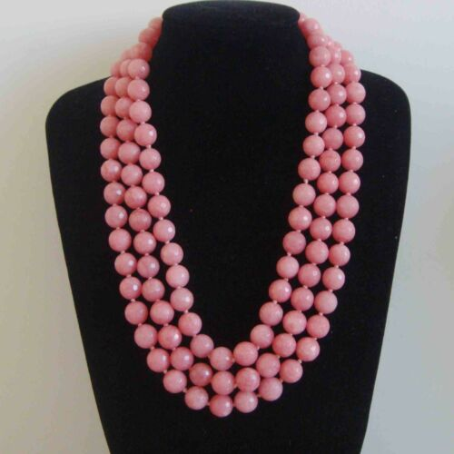 Hot 8mm-10mm faceted pink Morganite gemstone bead necklace 18 Inch-48 Inch AAA