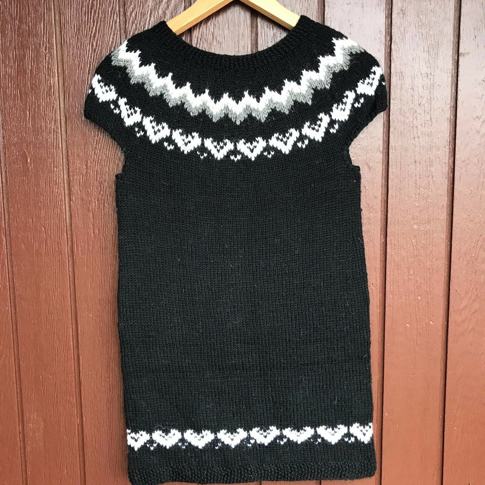 Icelandic Hand knit Vest Size M,Brand New , Sweater Vest,Christmas gift ,Long