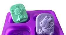 Baby Mickey Minnie Silicon Rubber Soap Chocolate Jelly Mold Molder