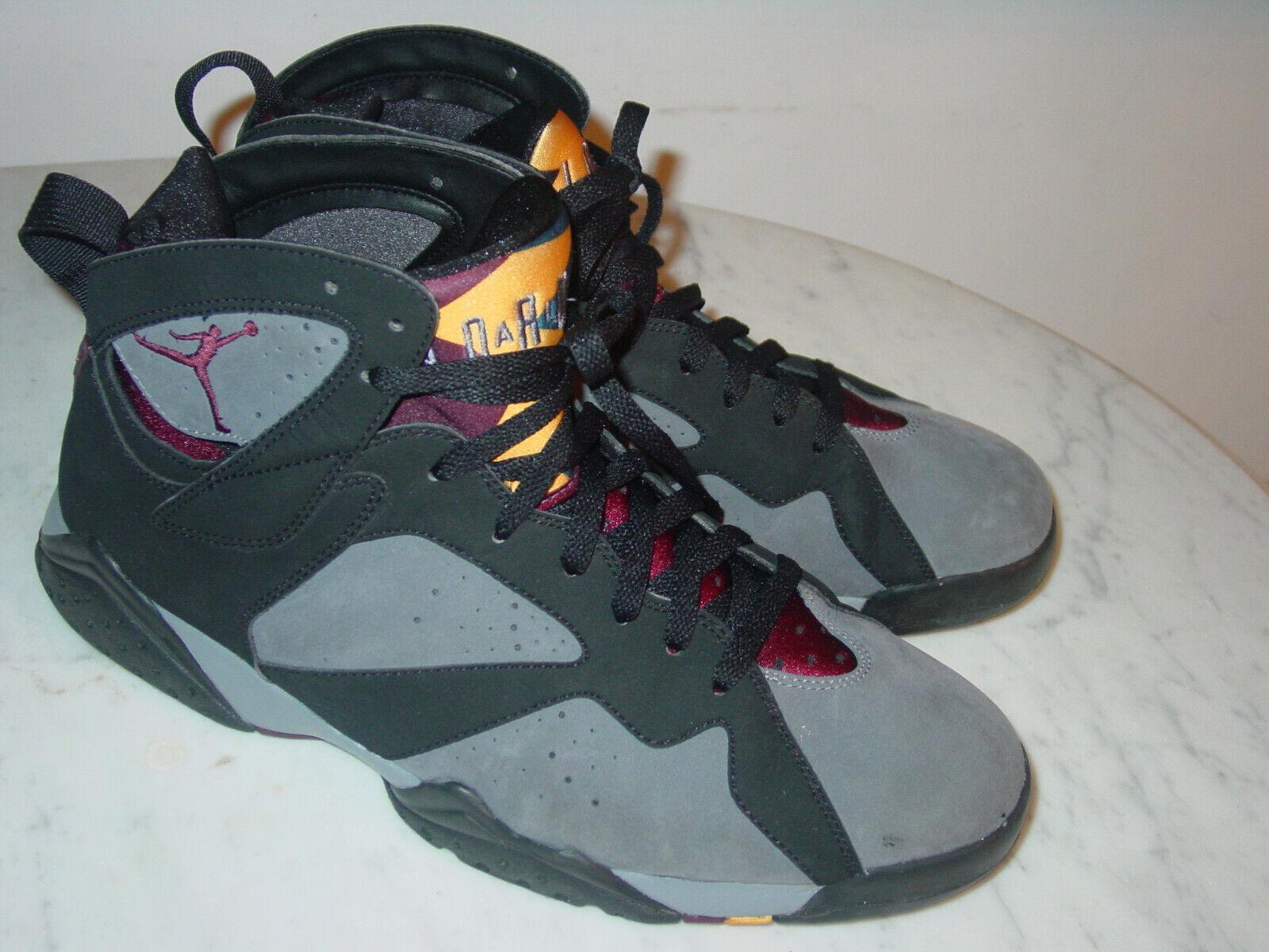 2010 Nike Air Jordan Retro 7  Bordeaux 2011 Release  Black shoes  Size 12.5