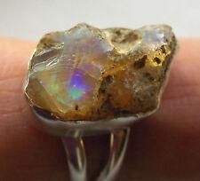Welo Opal-Ring roh, 925er Sil., Gr.53