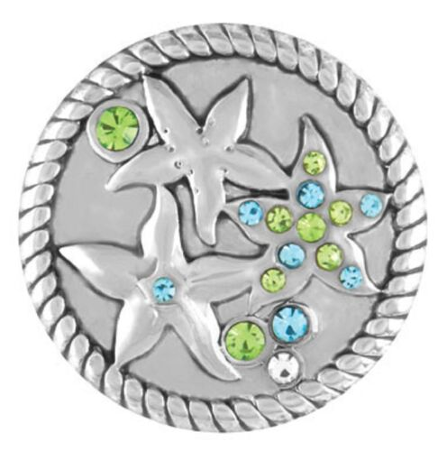 Standard Size GINGER SNAP STARFISH with STONES GET 5TH $6.95 SNAP FREE BUY 4