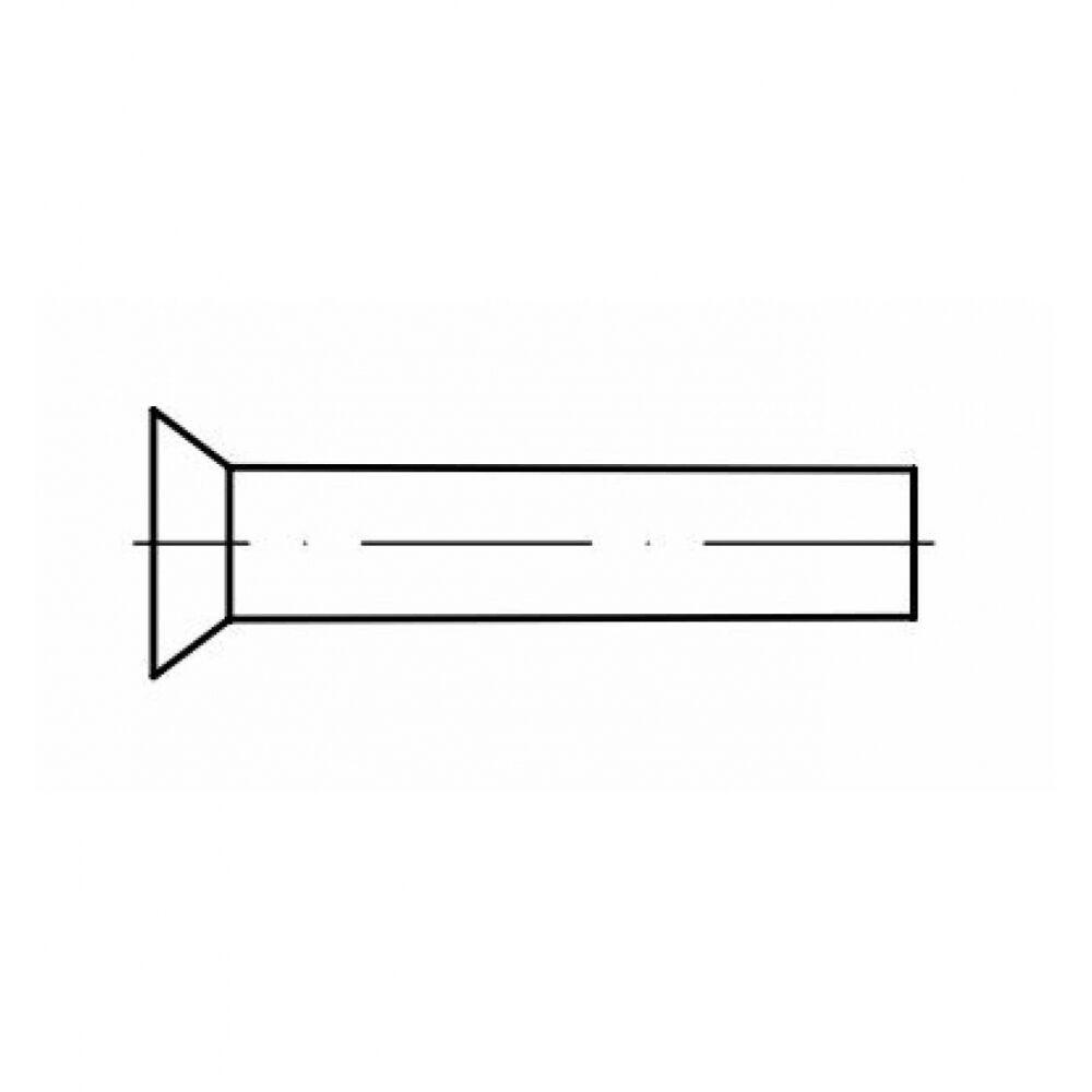 1000x DIN 661 Senkniete 4x20. Messing blank
