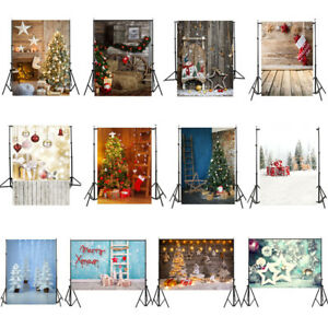 Christmas Backdrop Photo Vinyl Photography Studio Prop Celebrate Xmas Background