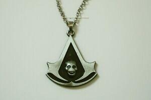 Necklace Assassins Creed Brotherhood Black Flag Symbol Logo Skull