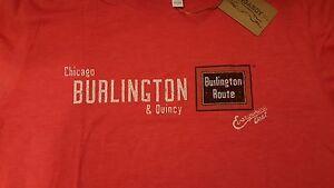 Ringaboy-Mens-T-Shirt-Burlington-Railroad-New-With-Tags-Size-2XL