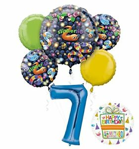 Slither-io-Party-Supplies-7th-Birthday-Video-Game-Balloon-Bouquet-Decorations