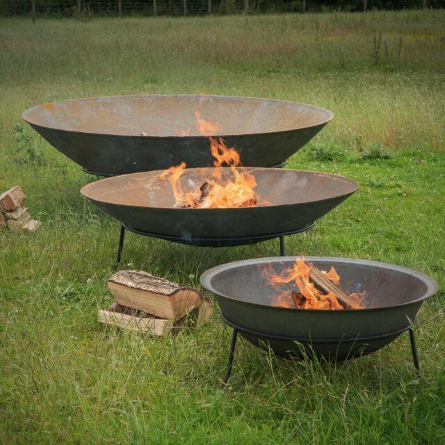 Shabby Chic Cast Iron Fire Pit Rusty Cast Iron Fire Bowl Garden Heater Fire