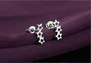 Shiny-925-Sterling-Silver-PL-Small-Cut-Out-Hollow-3-Star-Wave-Stud-Earrings-Gift