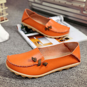 Women-039-s-Casual-Driving-Peas-Moccasin-Leather-Loafers-Single-Flats-Boat-Shoes