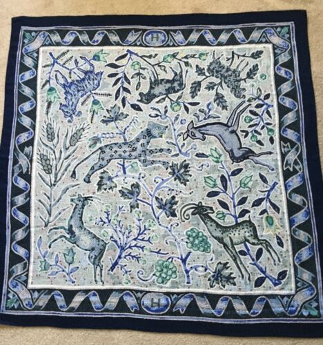 Rare HERMES Cashmere/Silk Shawl PAVEMENT by Mauric