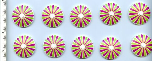 Radar with Stripes Lime//Magenta Petal LEGO Movie x10 White Dish 4 x 4 Inverted