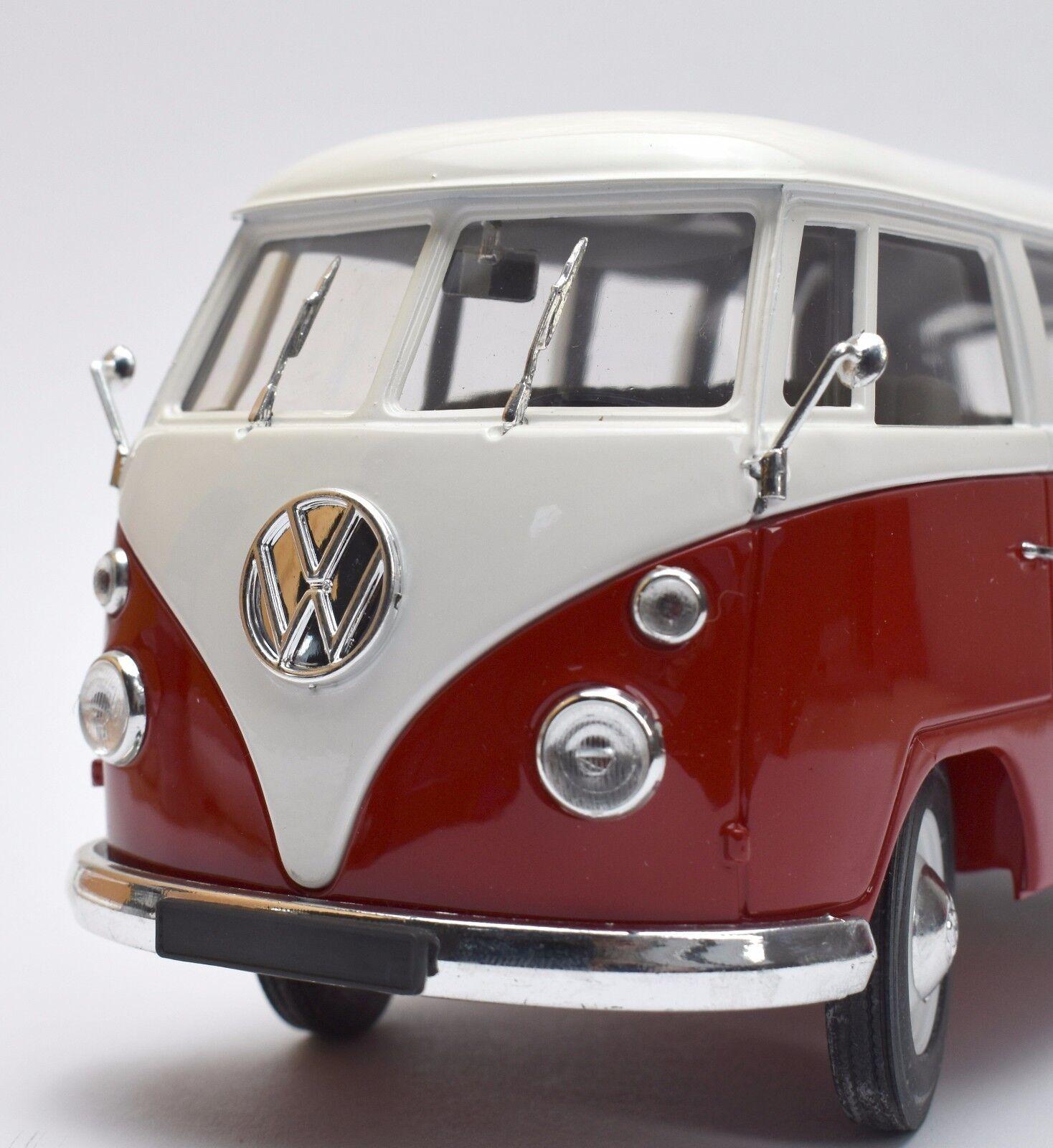 Solido Classic VW Volkswagen t1 Bulli in rouge Painted  blanc, OVP, 1 18, k012  bonne qualité