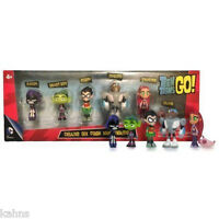 NEW Teen Titans Go Deluxe Six Pack Mini Figures Toy Set Robin Cyborg Starfire