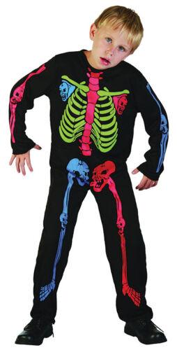 Bambino Multi Colore #Skeleton #Costume per ragazzi e ragazze Halloween fantasia Abito