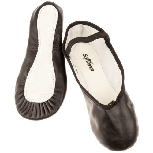 Sole Ballet Shoes various sizes. So Danca BAE90 Black Leather Full