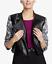 thumbnail 4 - RACHEL ROY NWT $139 Charlie Moto Jacket in Gray Floral & Black, Size M     BB32
