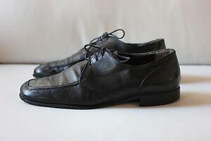 100% Vrai Leombruni Herren Schuhe Schnürschuhe Größe 41 Cherro Leder Schwarz