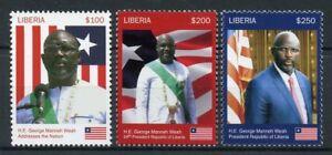 Grosses Soldes Liberia 2018 Neuf Sans Charnière Le Président George Weah 3 V Set Hommes Politiques Drapeaux Football Timbres-afficher Le Titre D'origine Fixation Des Prix En Fonction De La Qualité Des Produits