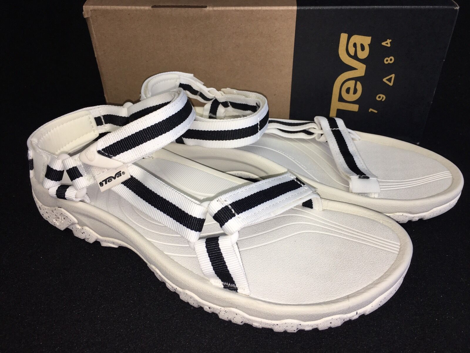 TEVA HURRICANE XLT LILY WHITE BLACK TRAIL SPORTS SANDALS US 11 WOMENS 1013849