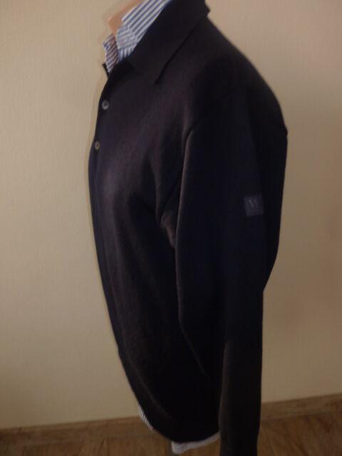 Maerz Pullover 100% Merinowolle Blau Gr. 48, Waschbar