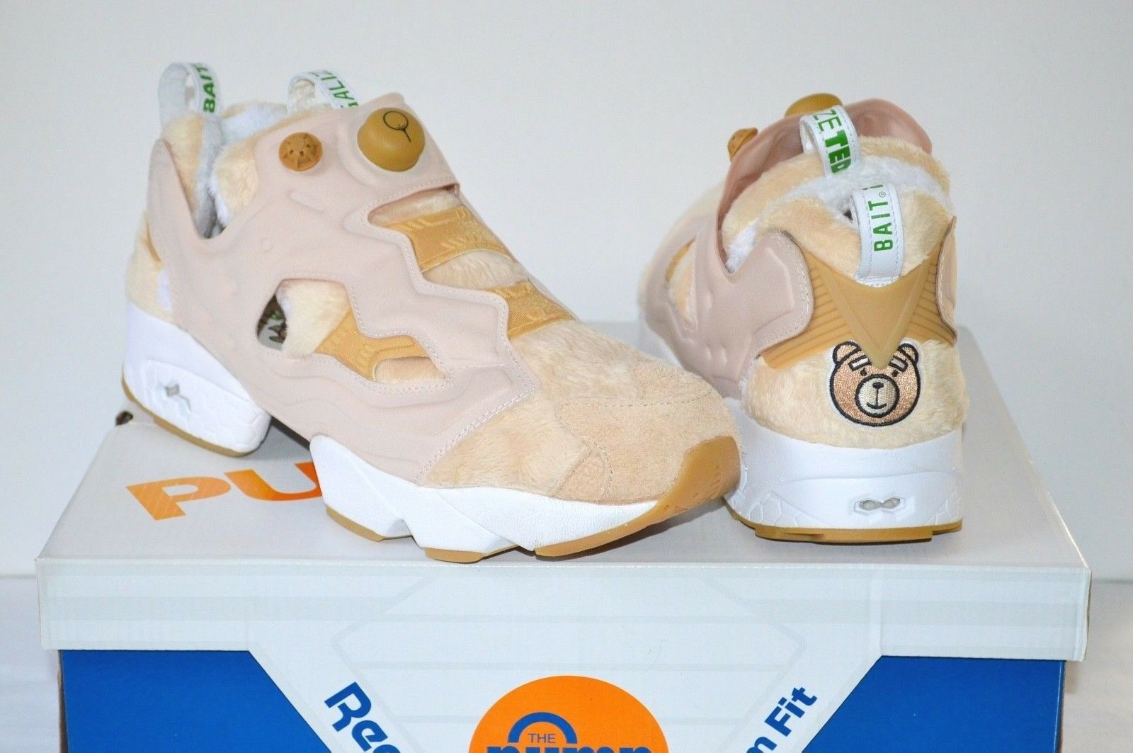 Reebok InstaPump Pump Fury Legalize Happy Ted 2 x Bait sz 11.5 Tan Front w Box