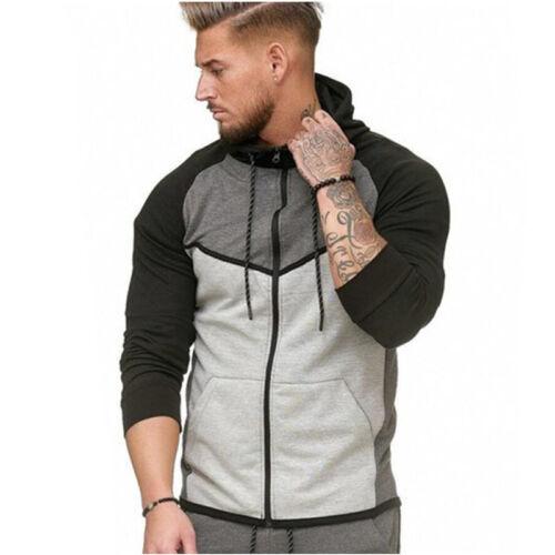 Jogging Pants Hoddied Zipper Gym Sportwear 2Pcs Mens Tracksuit Set Hoodie Tops