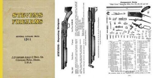 Stevens 1911 Firearms General Catalog /& Component Parts No 53