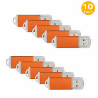 10 Pack 8gb Usb 2.0 Flash Drives U Disks Memory Pen Sticks Enough Storage Orange