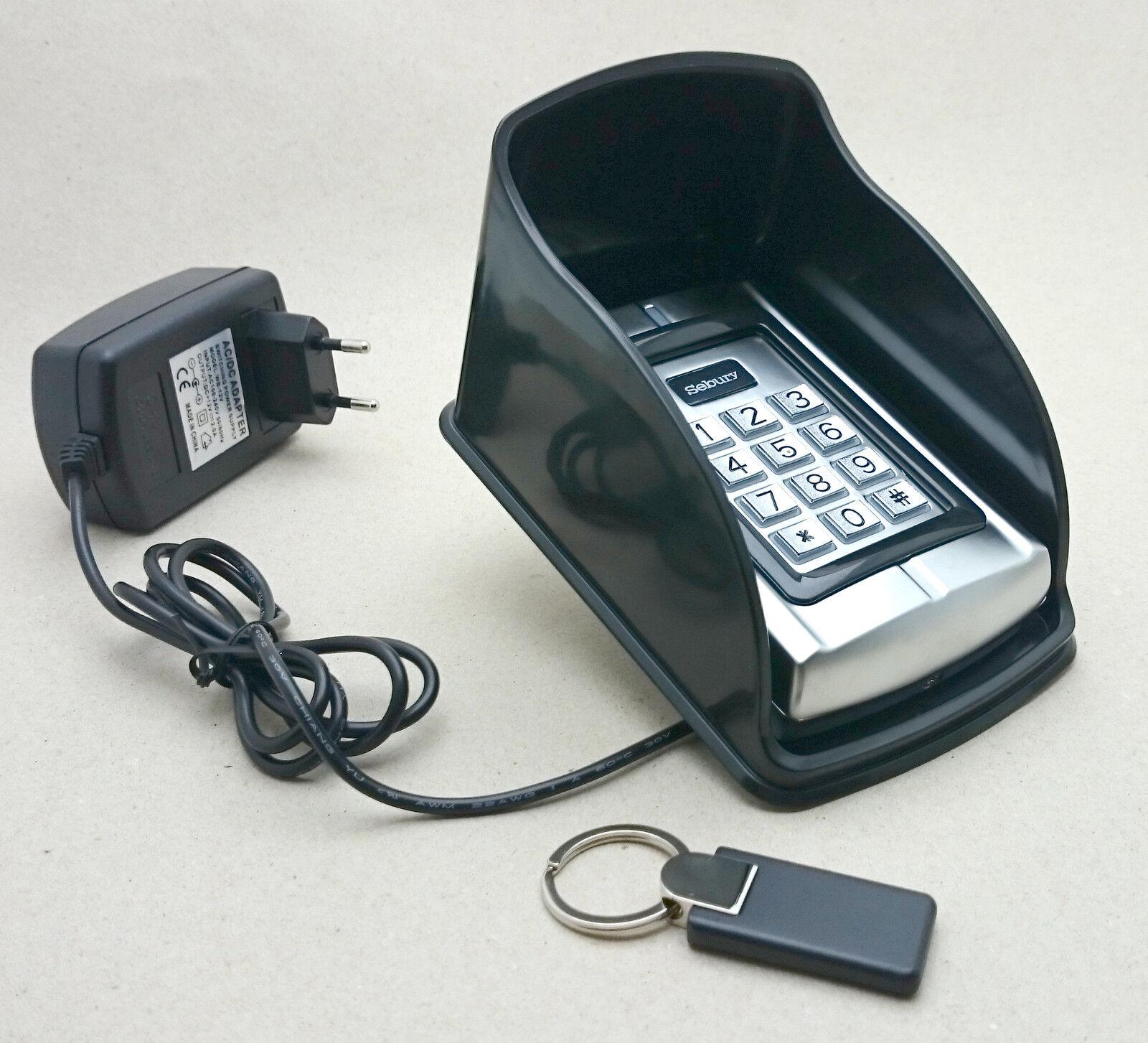 RFID- und PIN-Codeschloss BC-2000 + Design-Transponder, Schutzdach und Türöffner