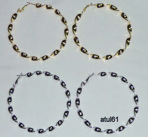 BIG-TWISTED-CREOLE-HOOP-EARRINGS-SILVER-GOLD-PLATED-FASHION-COSTUME-JEWELLERY