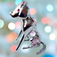 Crystocraft-Dog-Crystal-Pet-Ornament-With-Swarovski-Elements-Boxed-Pink-Silver thumbnail 2