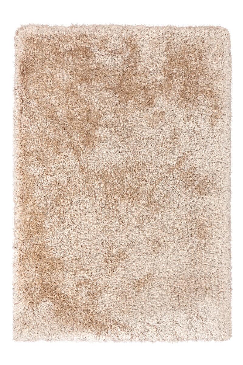 D'un épais Shaggy tapis faits à la main doux douillet Champagne Crème 200x290cm
