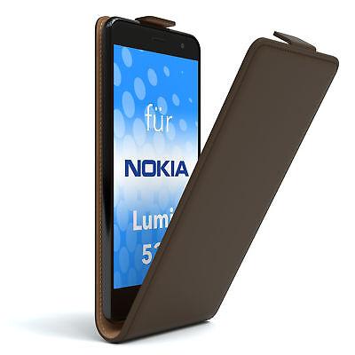 Tasche für Nokia / Microsoft Lumia 535 Flip Case Schutz Hülle Cover Etui Braun